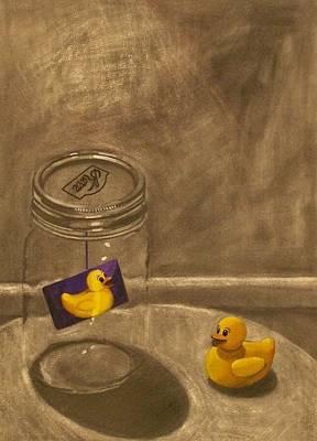 Conversing Ducks Poster