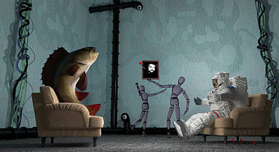 Conversing With Demons At 2 Am Poster by Brainwave Pictures