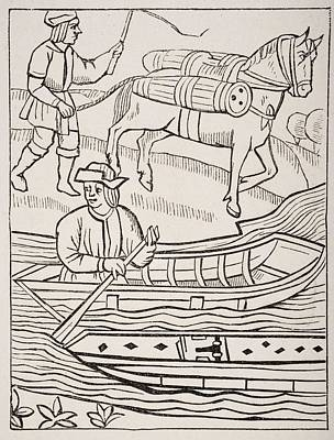 Conveyance Of Fish By Water And Land Poster