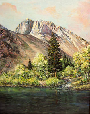 Convict Lake In May Poster by Donna Tucker