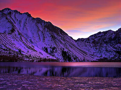 Convict Lake Sunset Poster