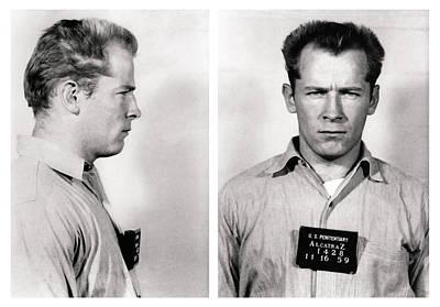Convict No. 1428 - Whitey Bulger - Alcatraz 1959 Poster by Daniel Hagerman
