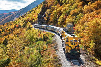 Conway Scenic Railway Fall Colors Poster