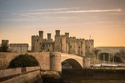 Conwy Castle Sunset Poster