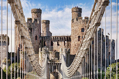 Poster featuring the photograph Conwy Castle Wales by Colin and Linda McKie