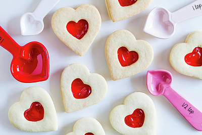 Poster featuring the photograph Cookie Baking Love by Teri Virbickis