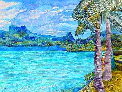 Cooks Bay Moorea Poster by Kandy Cross