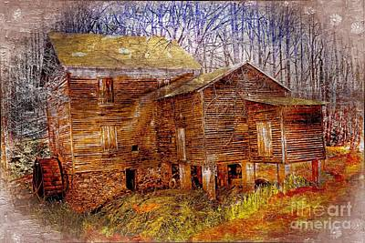 Cooks Grist Mill  Mebane Nc Poster