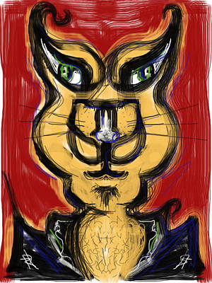 Cool Cat Poster by Russell Pierce