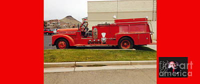 Cool Old Red Fire Truck Poster by Richard W Linford