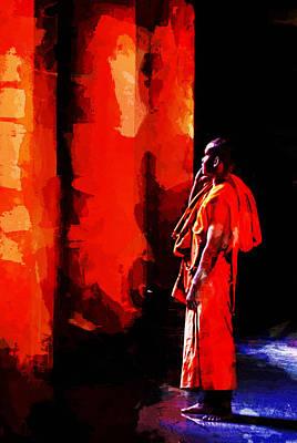 Cool Orange Monk Poster