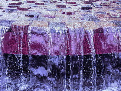 Cool Sunset Waterfall Abstract Poster
