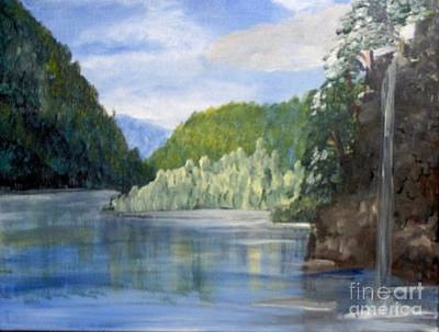 Poster featuring the painting Cool Water by Saundra Johnson
