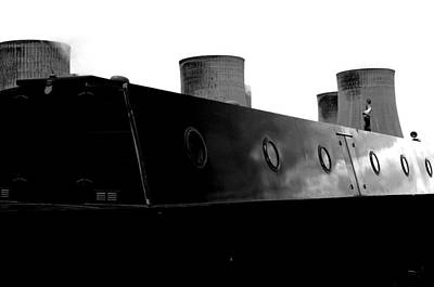 Poster featuring the photograph Cooling Barge by Jez C Self