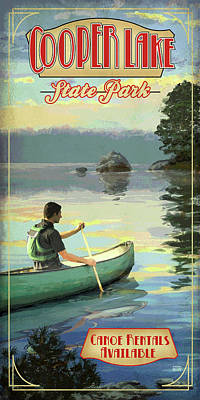 Cooper Lake State Park Poster by Jim Sanders