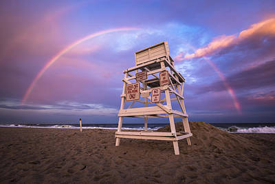 Coopers Beach Rainbow Poster by Ryan Moore