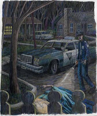Cop At Night Poster