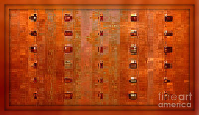 Copper Abstract Poster by Carol Groenen