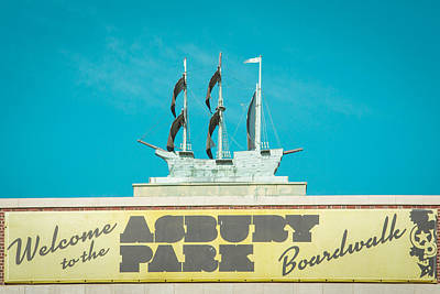 Copper Ship Atop Convention Hall In Asbury Park Poster