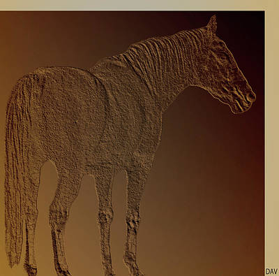 Coppertone Horse Poster by Debra     Vatalaro
