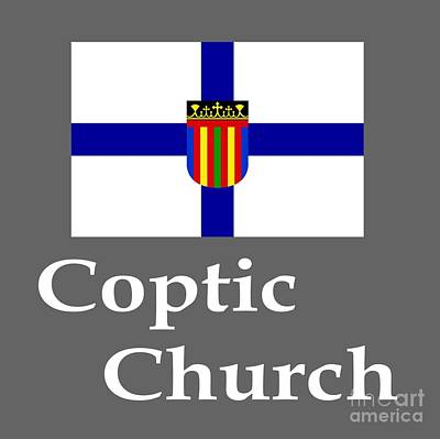 Coptic Church Flag And Name Poster