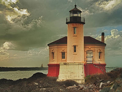 Coquille River Light House Poster by Alvin Kroon