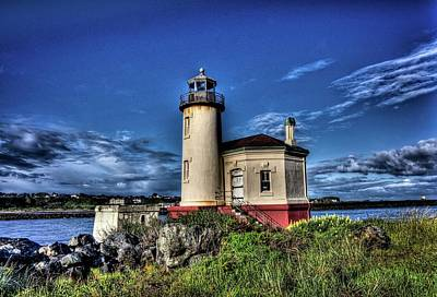 Poster featuring the photograph Coquille River Lighthouse by Thom Zehrfeld
