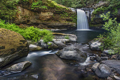 Coquille River Waterfall Poster