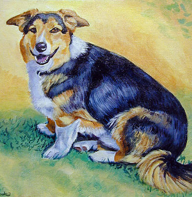 Corgi Mix Cooper Poster by Lyn Cook