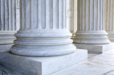 Corinthian Columns, United States Supreme Court, Washington Dc Poster by Paul Edmondson