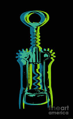 Poster featuring the digital art Corkscrew by Jean luc Comperat