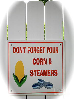 Poster featuring the photograph Corn And Steamers by Beth Saffer