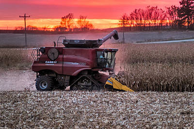 Corn Harvest Time Poster