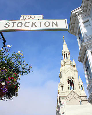 Corner Of Stockton-  By Linda Woods Poster