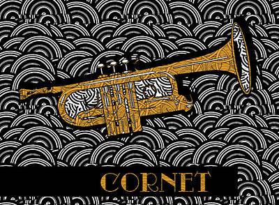 Cornet Chords Poster by Cecely Bloom