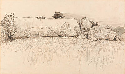 Cornfields With Barn, Shoreham Poster