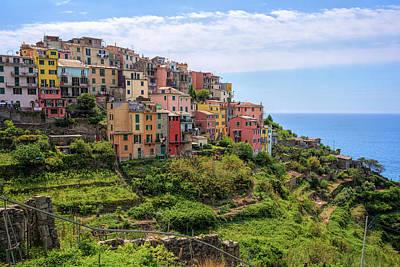 Corniglia Cinque Terre Italy Poster by Joan Carroll