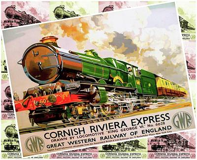 Cornish Riviera Express - Railway Travel Poster Poster