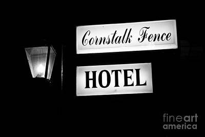 Cornstalk Fence Hotel Poster by Leslie Leda