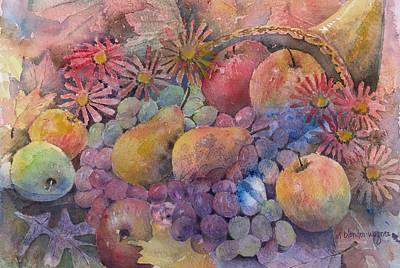 Cornucopia Of Fruit Poster