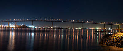 Poster featuring the photograph Coronado Bridge San Diego by Gandz Photography