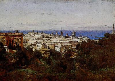 Corot View Of Genoa From The Promenade Of Acqua Sola Poster