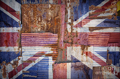 Corrugated Iron United Kingdom Flag Poster by Antony McAulay