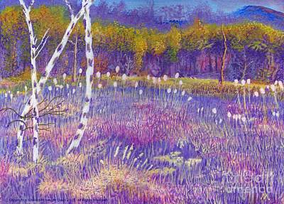 Cors Caron Bulrushes With Purple Grasses Poster by Edward McNaught-Davis