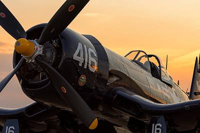 Corsair At Sunset Poster