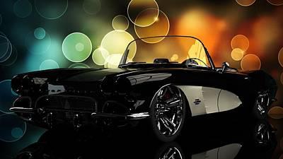 Corvette 1961 Poster by Louis Ferreira