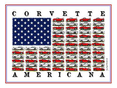 Corvette Americana Poster