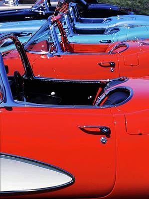 Corvette Row Poster