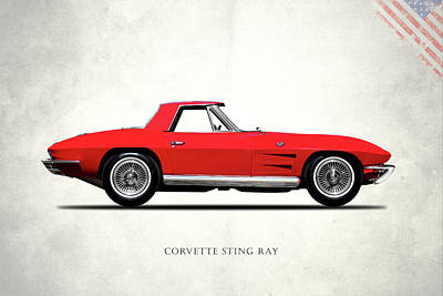 Corvette Stingray 1964 Poster