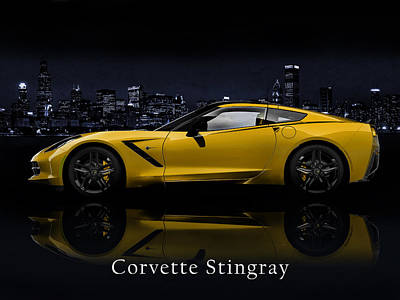 Corvette Stingray Poster by Mark Rogan